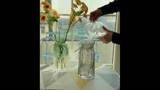 백합 장식 북유럽 예쁜 유리 화병 거실 식탁 꽃병