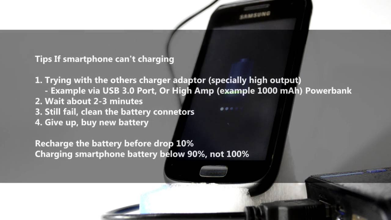 Smartphone Can T Charging Wait Between 5 Menit Or Try Using