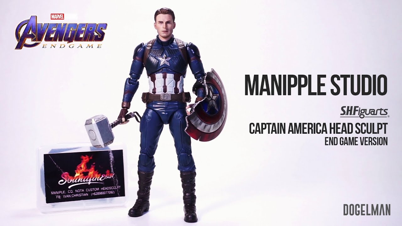 1//12 Scale Captain America Male Head Sculpt Fit 6/'/' Action Figure Toy