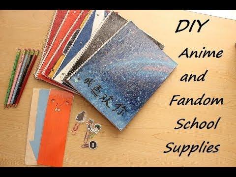 DIY Anime/Fandom School Supplies