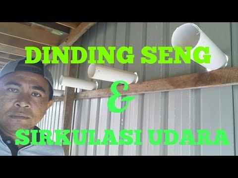 Proses Pasang Dinding Seng Dan Sirkulasi Udara Berbahan Pipa Paralon