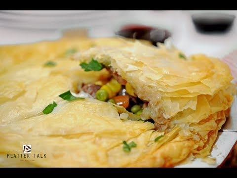 Leftover Prime Rib Phyllo Pot Pie