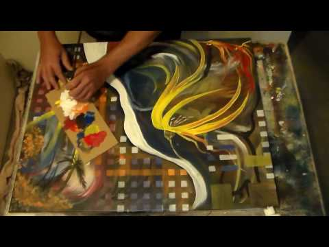 Abstract Art Compilation #1-Trick Painting in Acrylics with Music