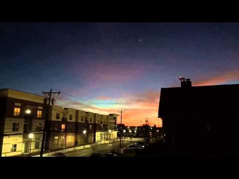 Sunset Cincinnati Xavier university