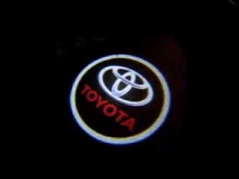 Led Door Courtesy Light Car Logo Toyota Youtube