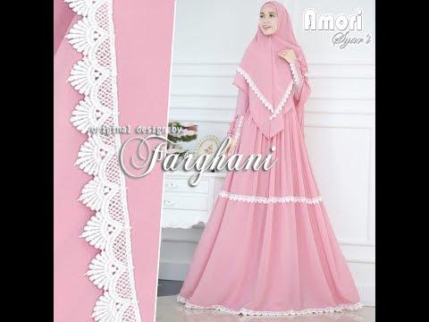 Model Baju Gamis Kombinasi Renda Hijabfest
