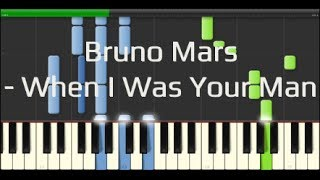 Bruno Mars - When I Was Your Man (Synthesia Piano Tutorial 100% [Easy])