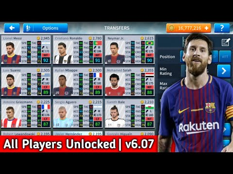 Dream League Soccer 2019 Mega Mod Apk V6.07(All Players Unlocked + Unlimited Players Development)