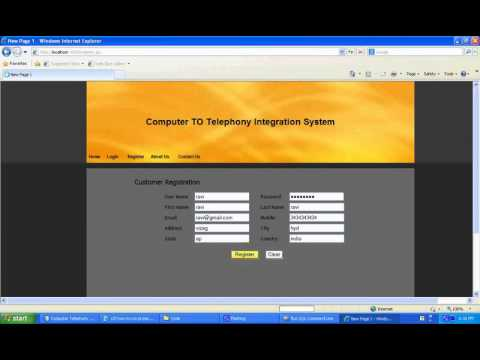 Computer Telephony Integration System Java Project