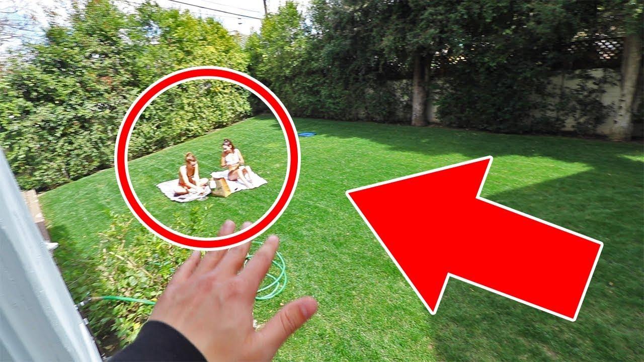 Girls SNUCK in MY backyard to tan... - YouTube