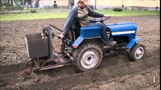 Traktor sam, mały PGR in Owsiszcze, sadzenie ziemniaków