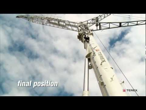 Terex AC 350-6 Patented luffing jib rigging procedure.