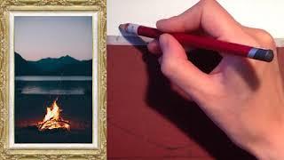 Пастель для начинающих. Урок 2: переносим изображение.