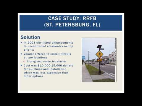 Countermeasure Strategies for Pedestrian Safety - Rectangular Rapid Flashing Beacons
