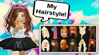 THEY ADDED MY HAIRSTYLE! CREATING MYSELF 👑👗 // Roblox Royale High School Hair Update