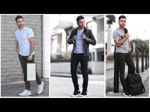 MEN'S BACK TO SCHOOL OUTFITS | Fashion Lookbook Inspiration |  3 Easy and Affordable Outfits for Men