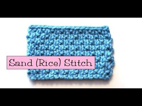 Knitting Rice Stitch In The Round : Fancy Stitch Combos - Sand/Rice Stitch - YouTube