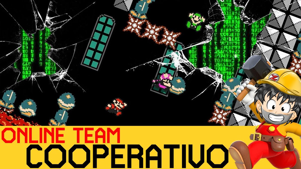 ROMPEMOS un Nivel COMPLETAMENTE para PASARLO - COOPERATIVO ONLINE #4 | Super Mario Maker 2 - ZetaSSJ