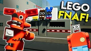 LEGO FIVE NIGHTS AT FREDDY'S INVADES LEGO CITY! - Brick Rigs Gameplay Challenge & Creations
