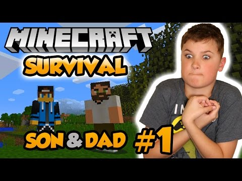 Dad & Son Surviving First Night in Spooky Island | Let's Play Minecraft Multiplayer Survival 1.12