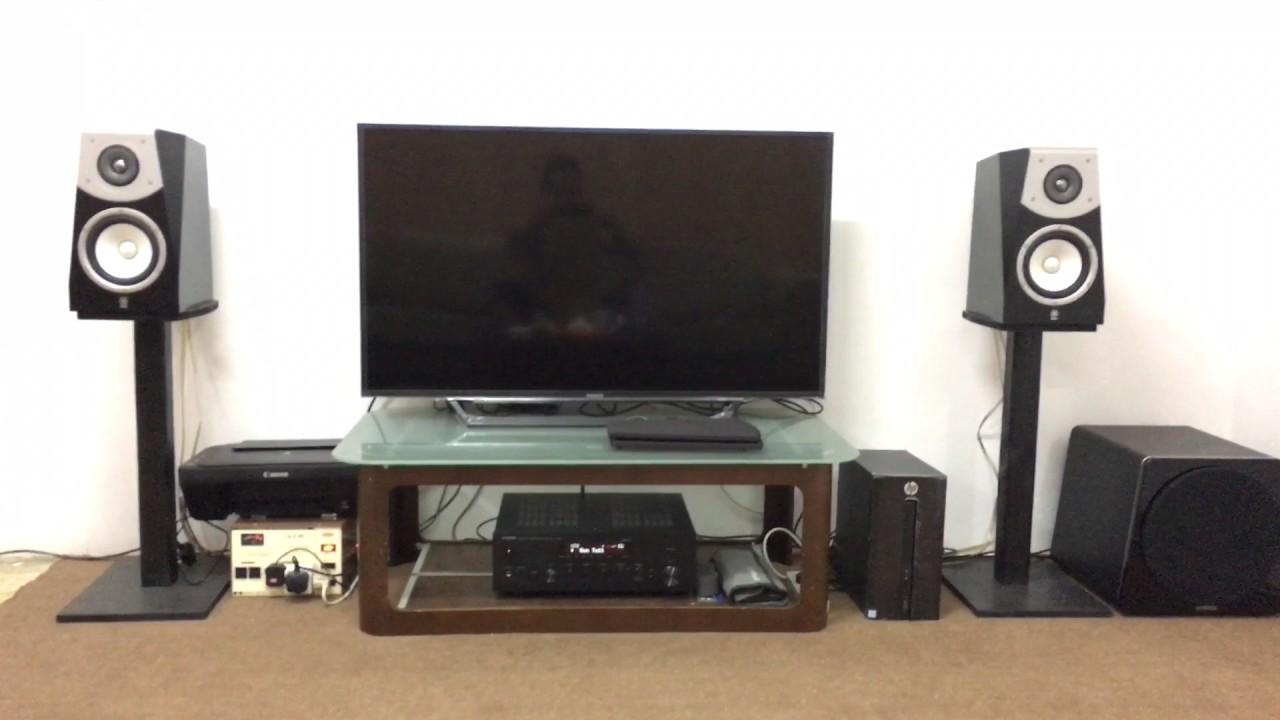 yamaha r n602 soavo 2 speakers w ns sw500 subwoofer. Black Bedroom Furniture Sets. Home Design Ideas