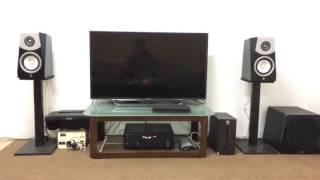 Yamaha R-N602 & Soavo 2 speakers w/ NS-SW500 subwoofer sound test