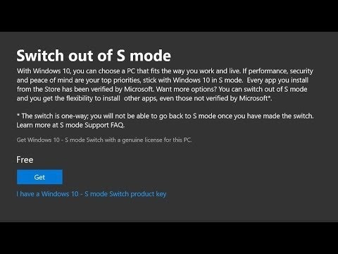 Switch Out Of Windows 10 In S Mode