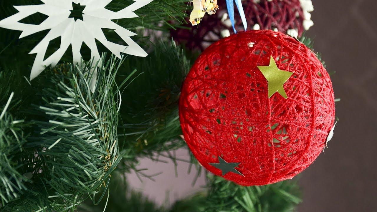 diy easy christmas tree ornaments decoration christmas tree decor - Handmade Christmas Tree Ornaments