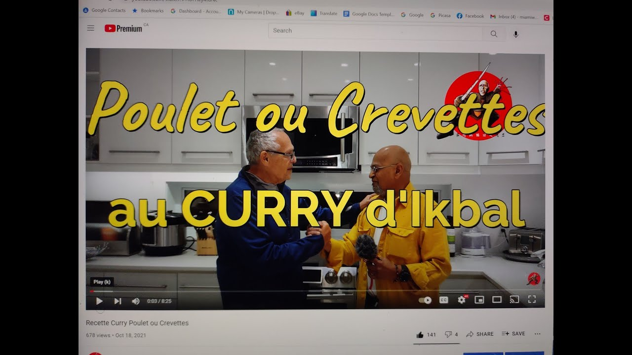 Download Recette Curry Poulet ou Crevettes