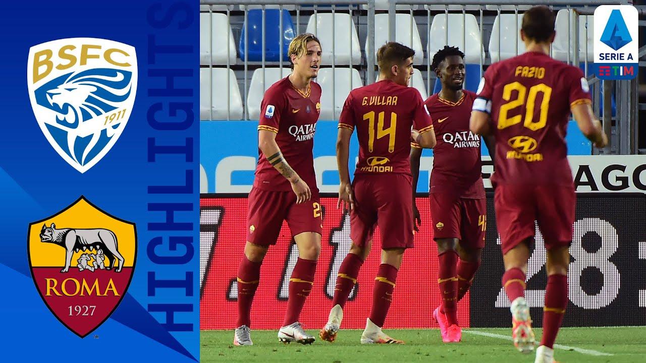 Brescia 0-3 Roma | Fazio, Kalinić and Zaniolo Score in Dominant Roma Victory | Serie A Tim