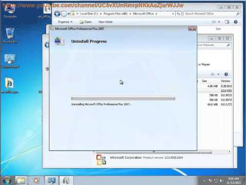 Can't Uninstall Microsoft Office Professional Plus 2007?
