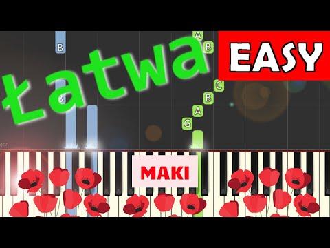 🎹 Maki - Piano Tutorial (łatwa wersja) 🎹