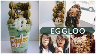 HONG KONG EGG CAKE WAFFLES w/ UNLIMITED TOPPINGS! | Food Adventures Ep. 6: Eggloo NYC