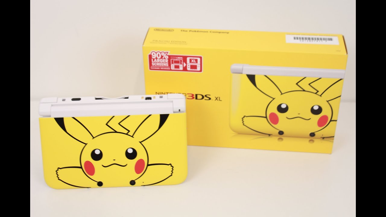 Limited Edition Yellow Pokemon Pikachu 3ds Xl Unboxing And Giveaway Youtube