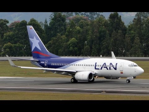 TAKE OFF DEL BOEING 737-700 DE LAN COLOMBIA