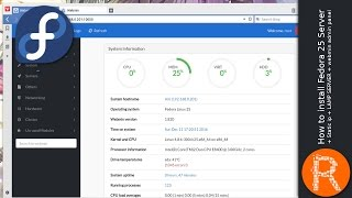 How to install Fedora 25 Server + Static ip + LAMP SERVER + webmin admin panel