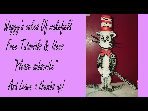 Making Cat In The Hat Cake Topper