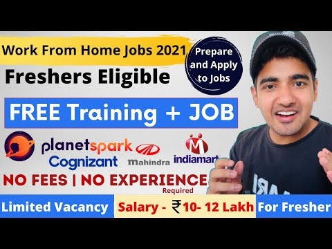 Work From Home Jobs 2021  Free Training + Jobs   Freshers   No Experience Need   Private Job Updates