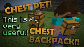 WORKING CHEST PET & BACKPACK with Command Blocks - Minecraft PE