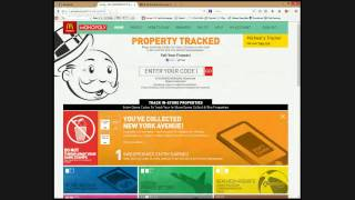 McDonalds Monopoly Sticker Peel and Online Game