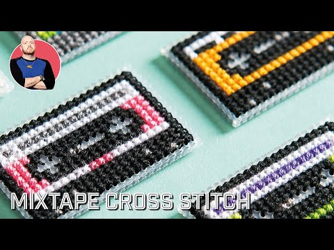 CROSS STITCH | Mixtape Pattern by Lord Libidan for XStitch Magazine