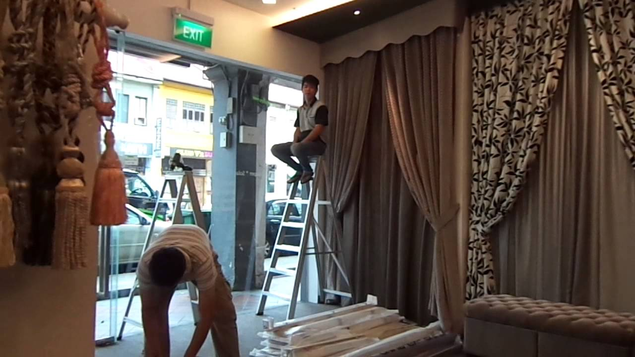 Installing Window Blinds For A Curtain Showroom Youtube