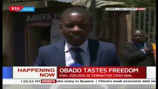 Governer Obado feels the taste of freedom after court grants bail of half a million
