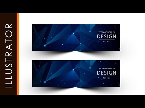 How to Make Simple Banner Abstract Blue Simple Using Adobe Illustrator