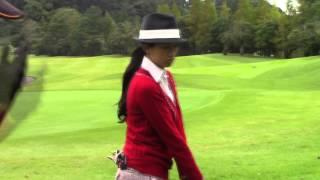 マーク金井と森下千里のゴルフを極める「ゴル極」 狙った方向に打つには 森下千里 検索動画 19