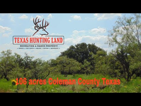 106 Acre Coleman County Dove Hunters Paradise For Sale - $318,000