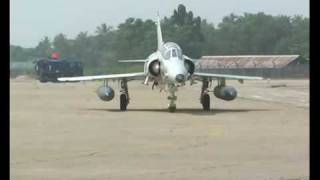 Sri Lanka Air Force - Kfir Jet Approching Runway and Taking Off.