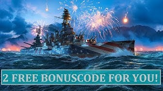 2 FREE Bonus Code for everyone! World of Warships