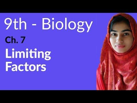 9th Class Biology - Ch 7 - Limitng Factors - Matric Part 1 Biology