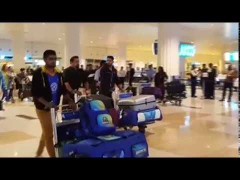 Karachi Kings Players Arrival in Dubai Airport 04-02-17